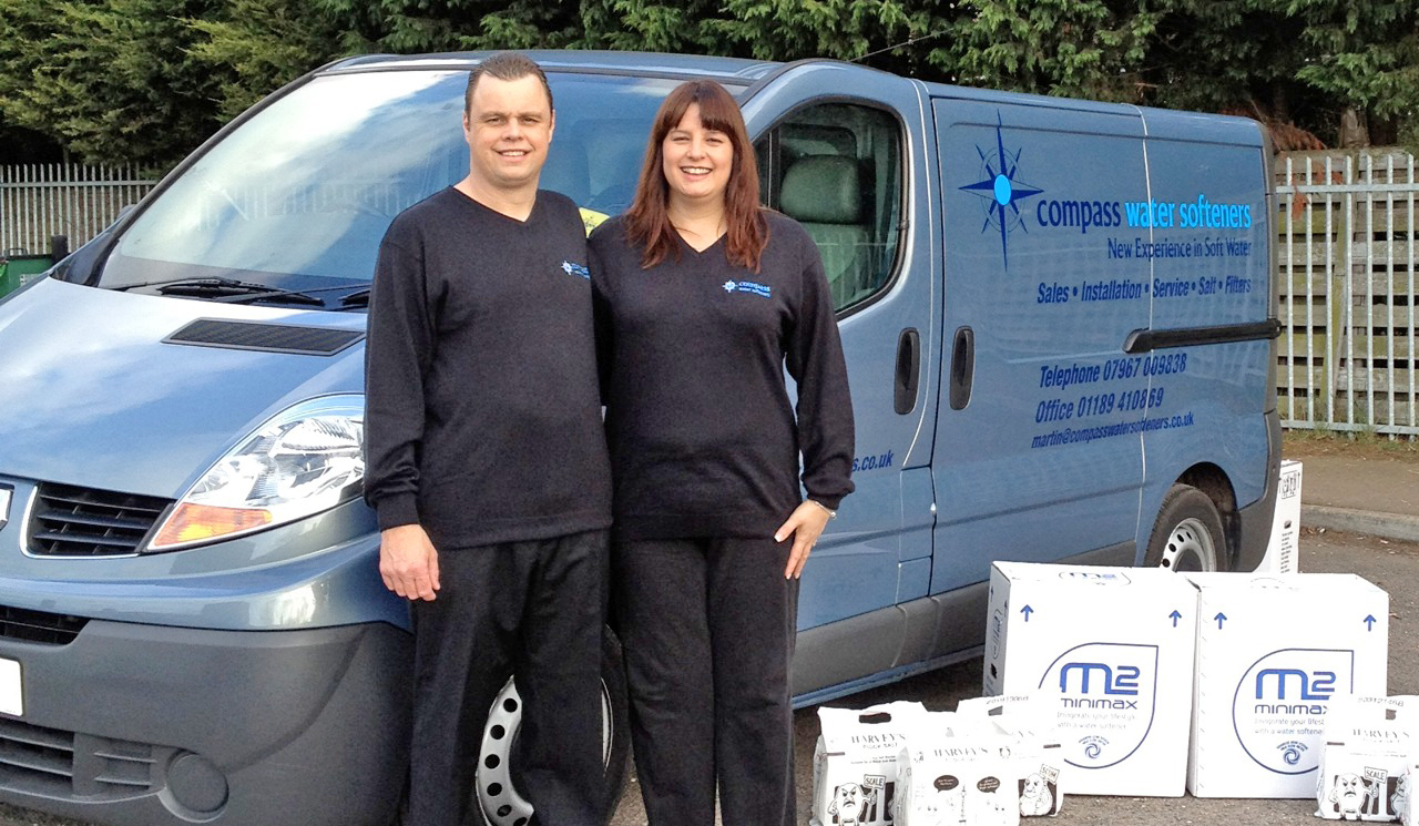 Martin and Lisa Perrin from Compass Water Softeners Reading