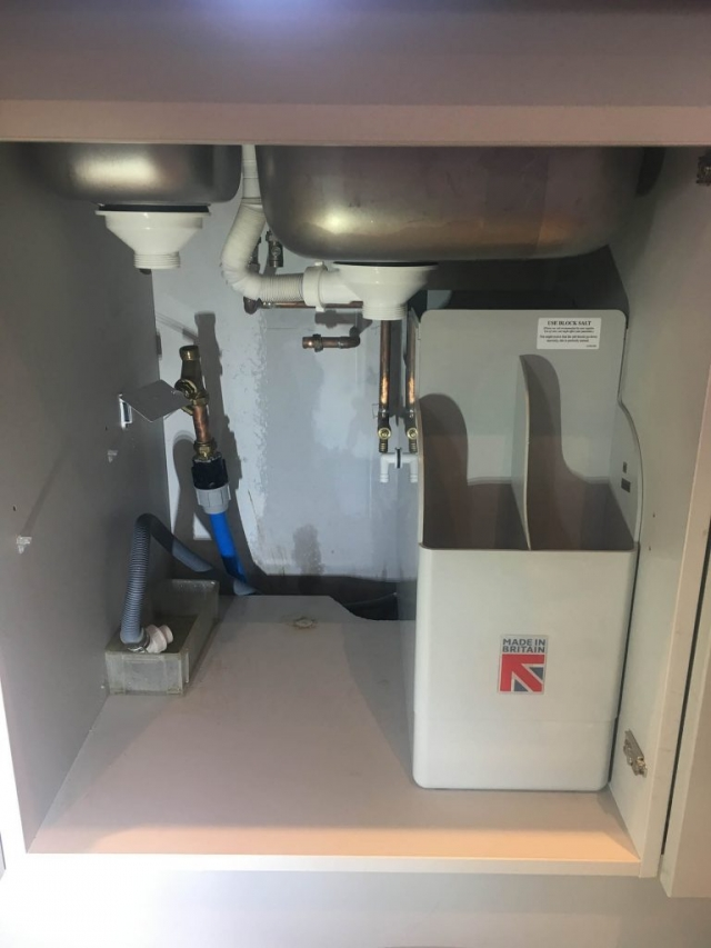 Ensuring the water softener fits in the desired space under the sink in Caversham, Reading