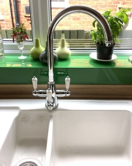 A classic-style 3 way tap fitted with a water softener in Reading