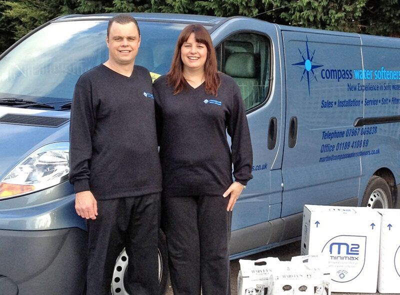 Martin and Lisa Perrin from Compass Water Softeners in Reading