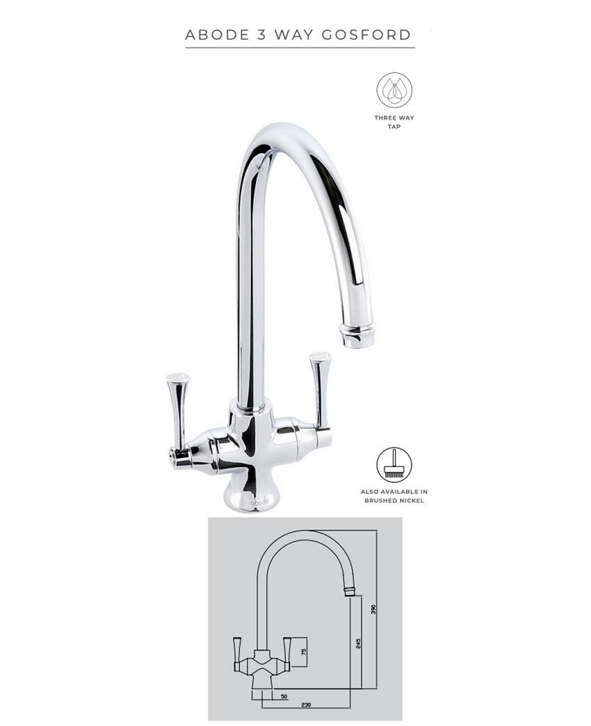 Abode Gosford 3-way tap