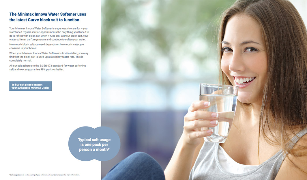 Why is salt important in a water softener?